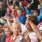 Feyenoord kinderfeestje in de Kuip Rotterdam