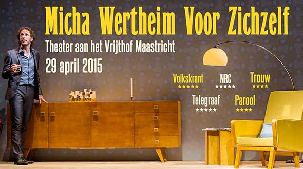 Micha Wertheim in Theater het Vrijthof 29-04-2015