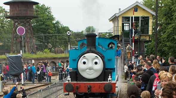 Thomas viert zijn verjaardag in Het Spoorwegmuseum