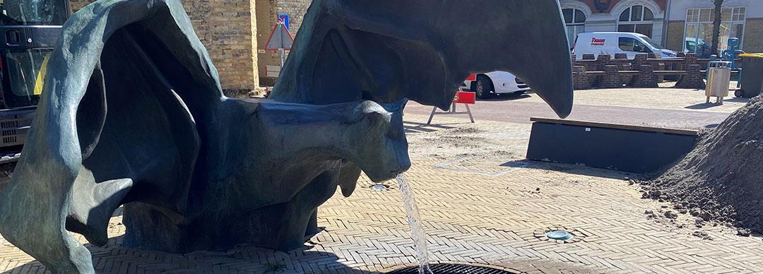 Vleermuis fontein Bolsward