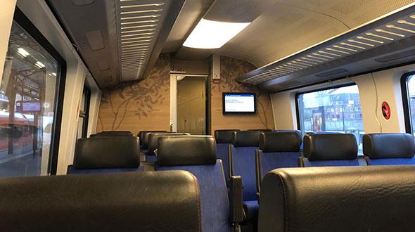 met de trein door Drenthe
